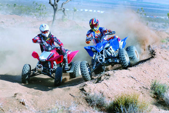 HONDA 450R VS  YFZ450R | UTV Action Magazine
