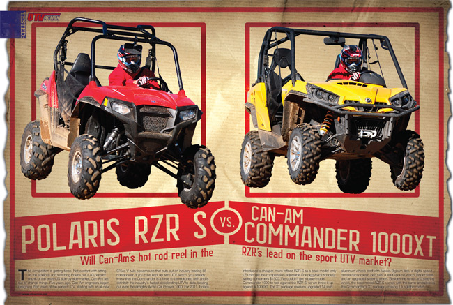can am commander 1000 vs polaris rzr s utv action magazine. Black Bedroom Furniture Sets. Home Design Ideas