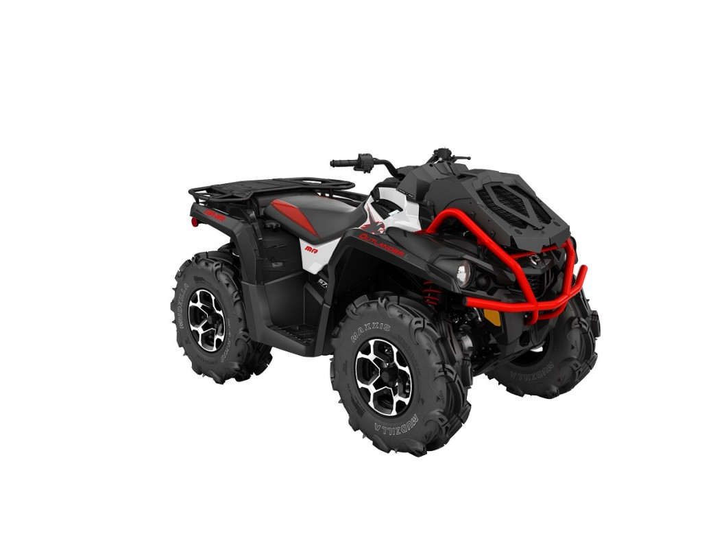 2016 Outlander L XMR 570 White, Black - Can-Am Red_3-4 front(7)