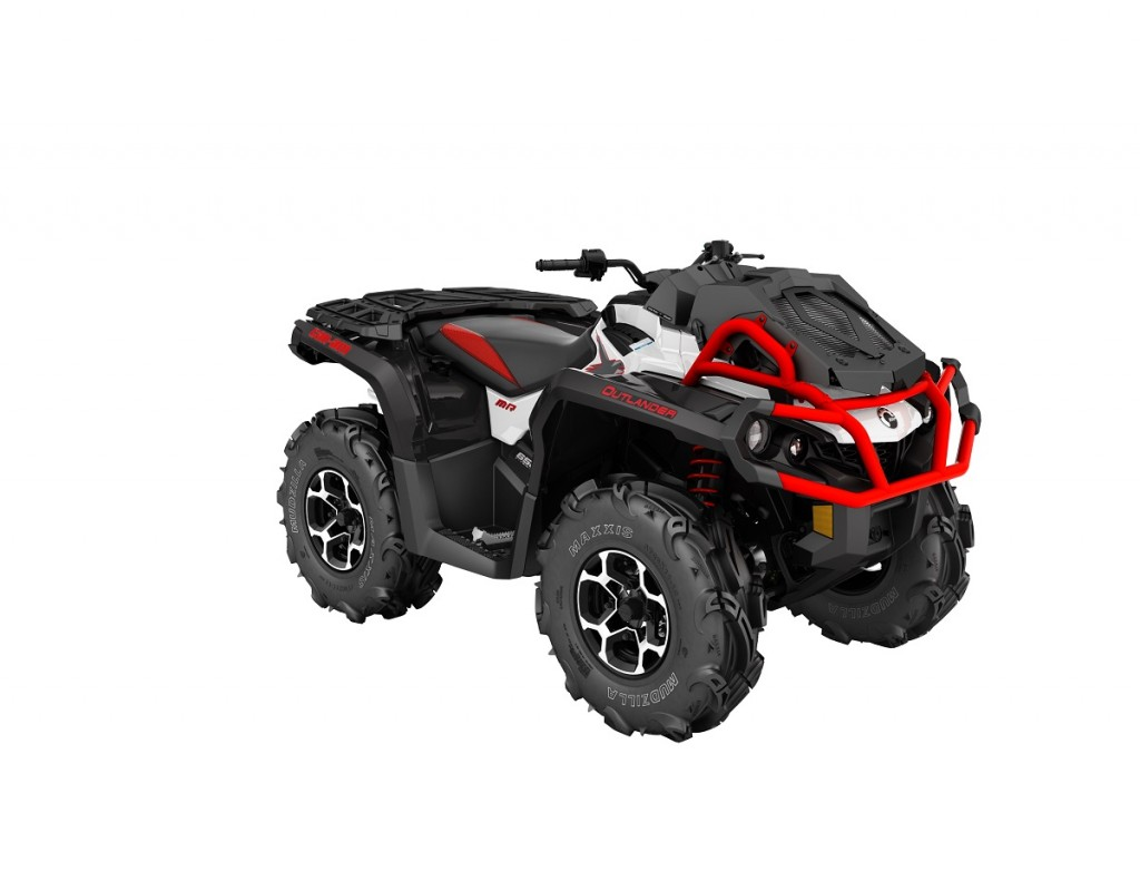 2016 Outlander XMR 650 White, Black - Can-Am Red_3-4 front(