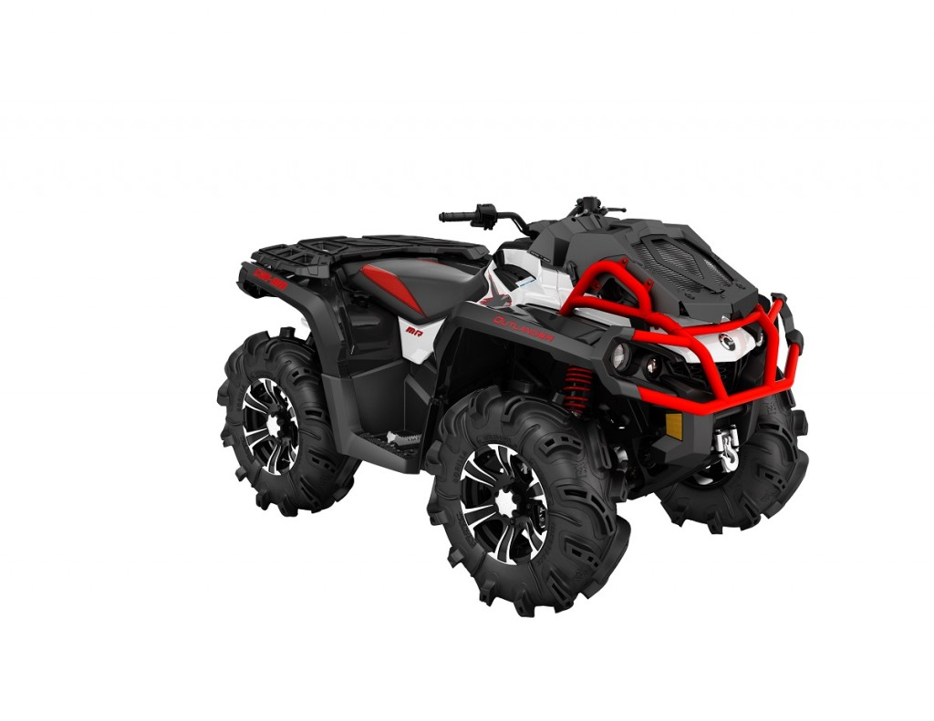 2016 Outlander XMR 850 White, Black - Can-Am Red_3-4 front (3)