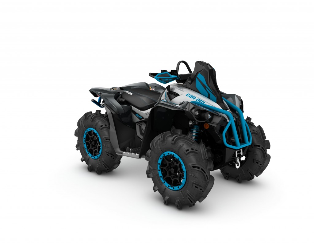 2016 Renegade X mr 1000R Hyper Silver, Black, Octane Blue_3-4 front