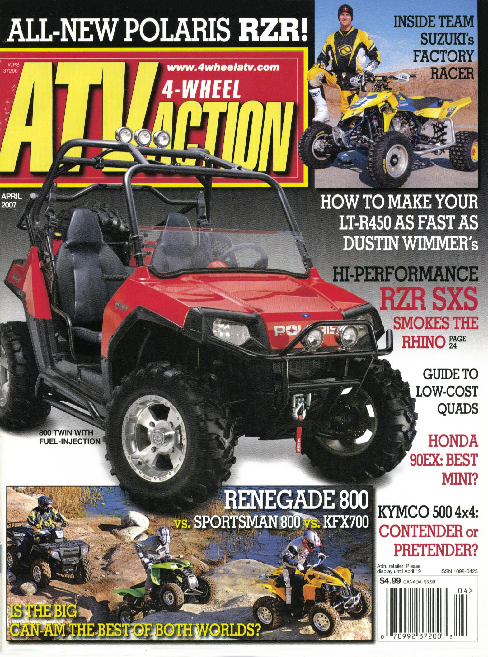 2019 Polaris Rzr Rumors >> FIRST POLARIS RZR TEST! 2008 RZR 800 | UTV Action Magazine