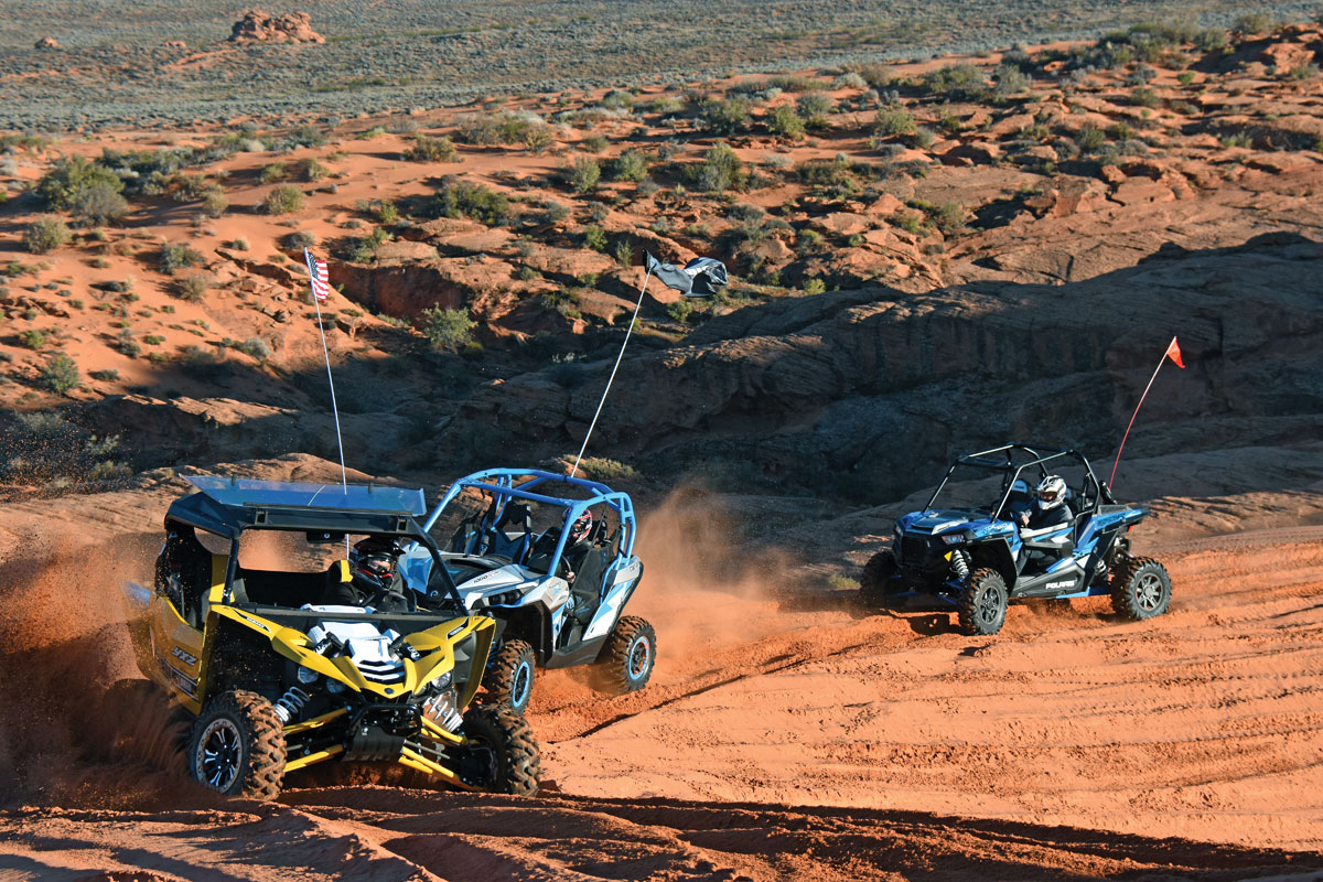 Turbo shootout polaris vs yamaha vs can am utv action for Yamaha yxz1000r turbo