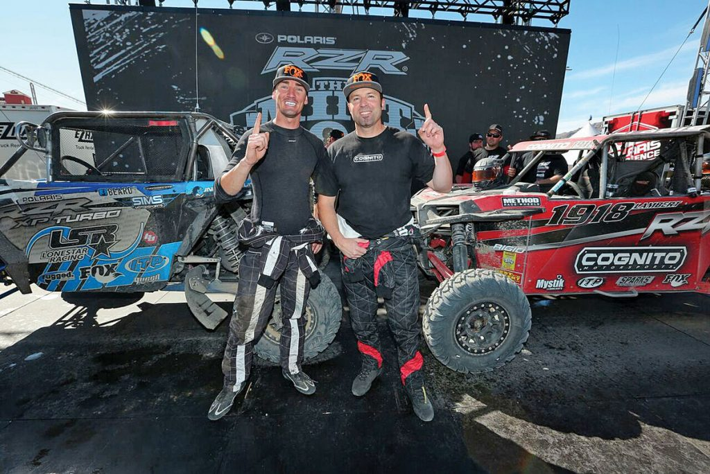 Branden Sims won the Mint 400's Pro Turbo UTV class and UTV overall, while Justin Lambert would finish second overall and first Pro Production on Ultracross R-Spec tires, which show very little wear.