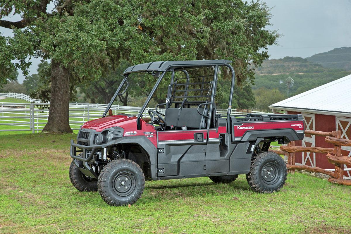 utv action magazine | test: kawasaki mule pro-dxt eps le diesel