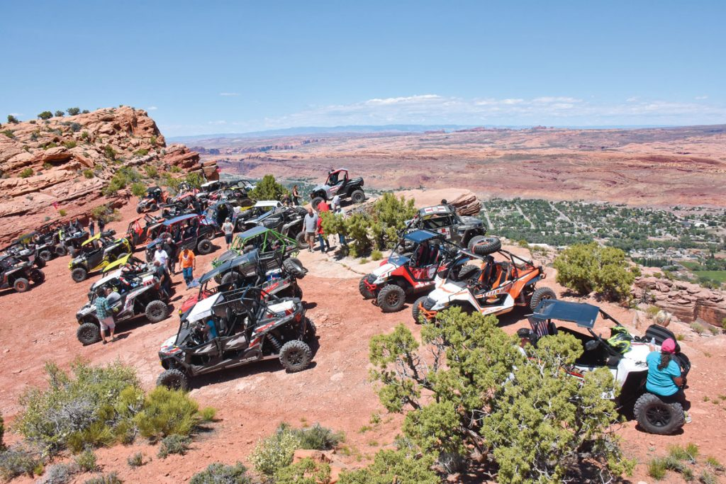 Breathtaking escarpments give a great view of Moab, its treasured slick rock and the Green River on several ROTR trails, and Moab Rim is rated 7+ for only a couple of tricky obstacles. Guides direct drivers to the correct line and stop at the most scenic and interesting spots.
