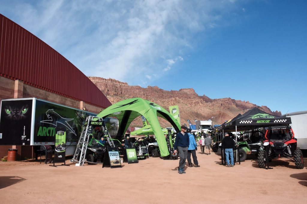 Vendor row was bigger than ever for 2016, and Arctic Cat put on demo rides and a Wildcat press day with catered BBQ lunch by Camp Chef.