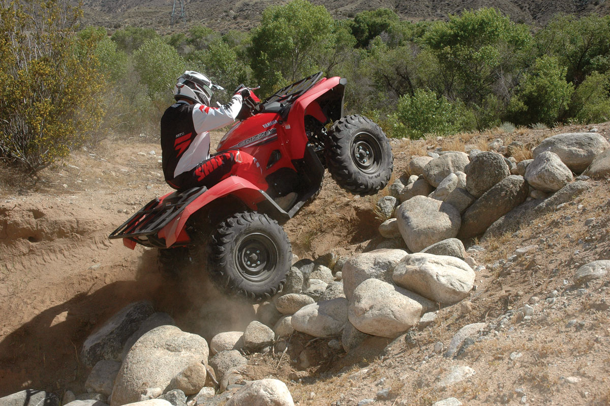 yamaha grizzly. the yamaha grizzly 700 has been one of best-balanced 4x4s since it was