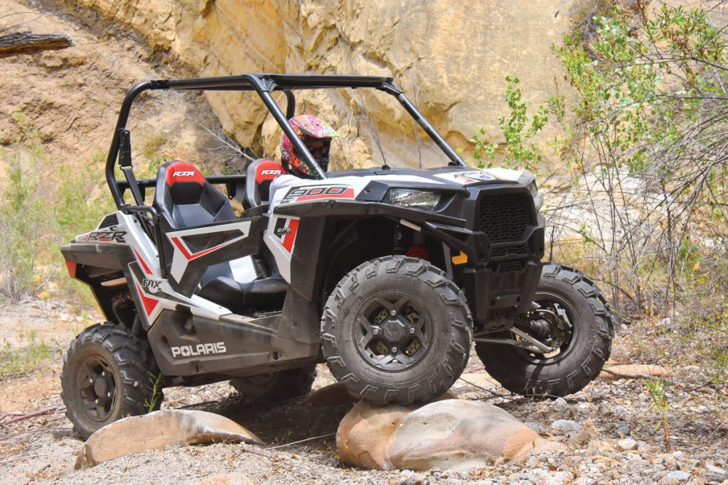Polaris greatly improves upon the original RZR with the ProStar-powered RZR 900, with the Fox Edition EPS being the top trim package in the 50-inch sport UTV segment. Only Fox and XC Edition RZRs get a true Engine Braking System and unlocking rear differential.