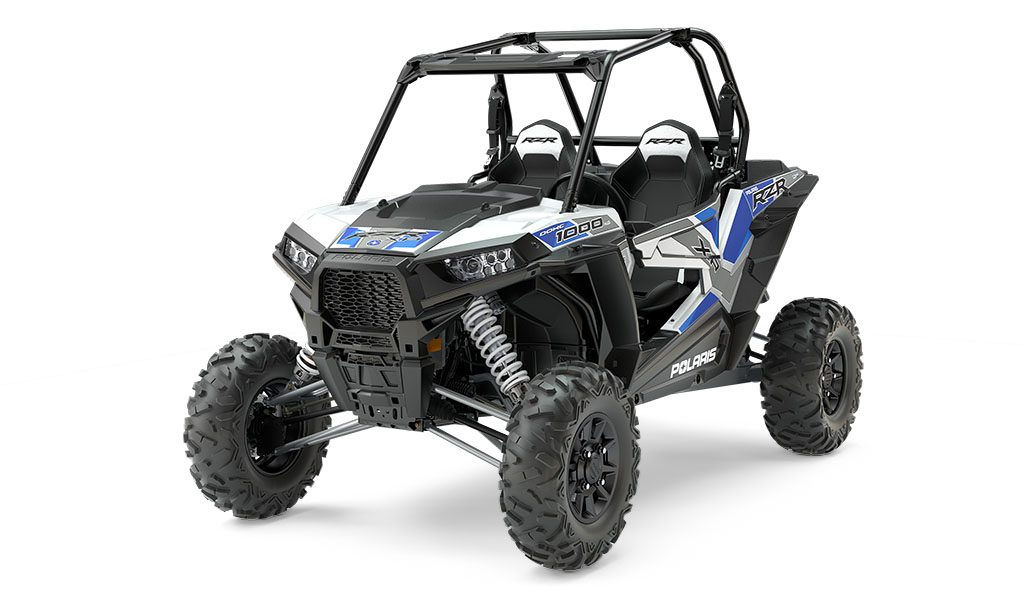 RZR 1000s get new color choices as well, like the RZR S 1000 EPS Spectra orange (shown) and RZR XP 1000 and XP-4 EPS White Lightning with Reflex Blue.