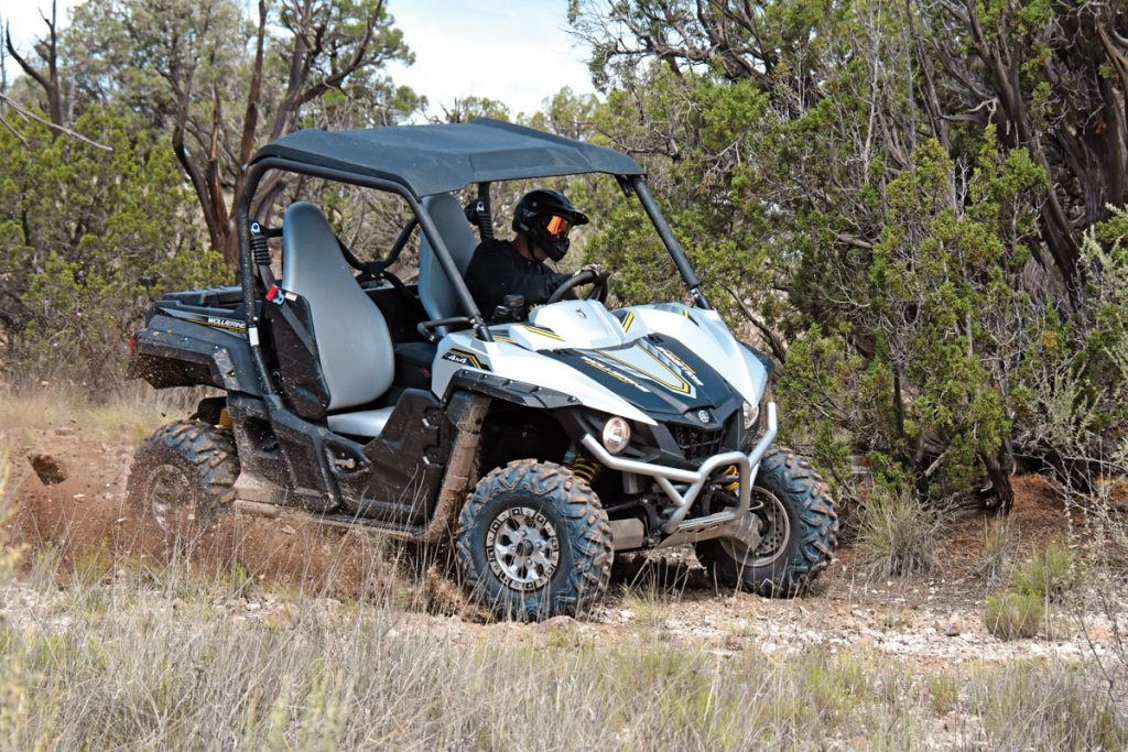 With a wheelbase and width almost identical to the new RZR S 570, the 2017 Yamaha Wolverine R-Spec EPS Special Edition is a formidable woods weapon for explorers, trail riders, hunters and anyone who likes to get away from it all.