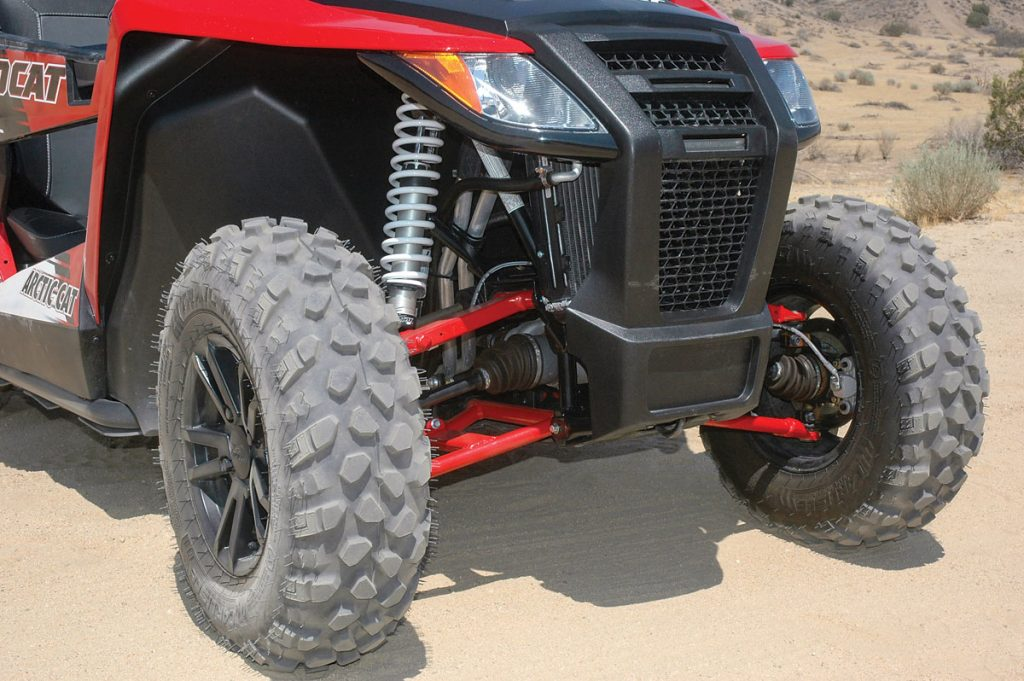 The Fox gas shocks don't need reservoirs or compression or rebound clickers to deliver a quality ride.