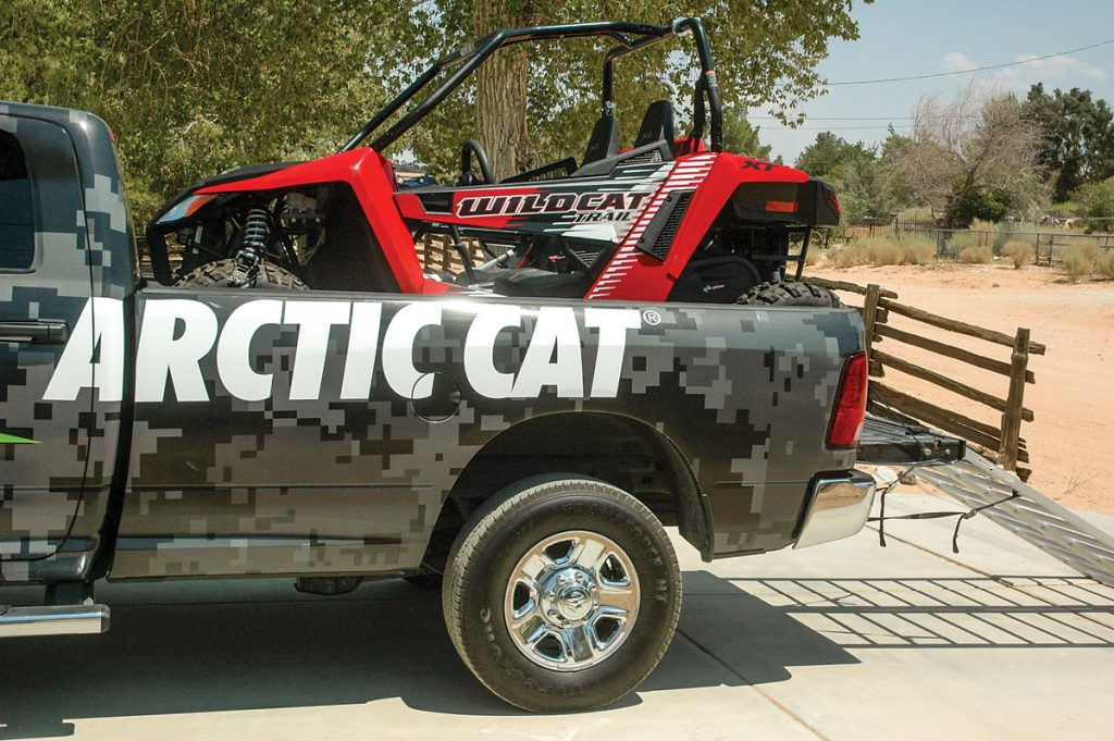 The Wildcat Trail isn't only less expensive to buy than larger machines, it's less expensive to transport, because it fits in most fullsize pickups.