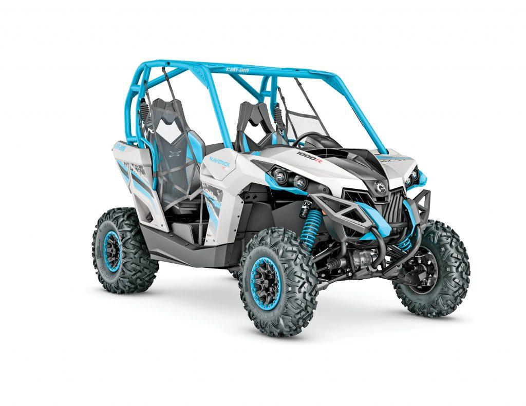 UTVBG10_2017-Maverick-X-xc-1000R-Light-Grey-and-Octane-Blue_3-4-front