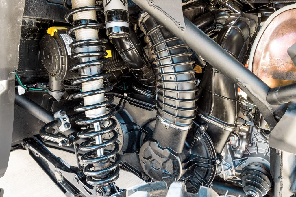 The transmission and its cooling system are purposely over-designed, and belt changes are easy.