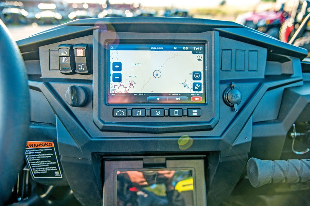 Maps are great if your battery goes dead, but most people depend on hand-held GPS units. Can-Am and Polaris have Limited Editions that come standard with GPS, but the new Ride Command RZR XP 1000 LE takes tracking to the next level. Through the Ride Command app, you can track everyone on your ride.