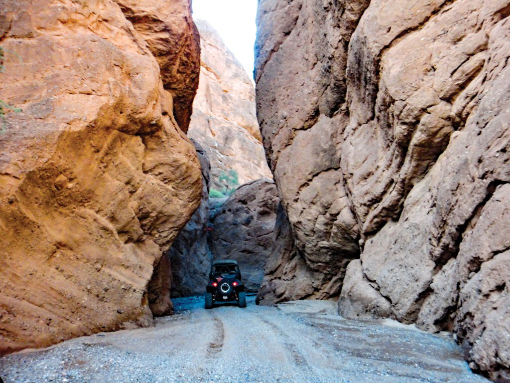 Arizona is not only rich in OHV opportunities, the scenery makes each ride even more enjoyable. This is Colorful Canyon outside of Bullhead City, the northwest section of the new Arizona Peace Trail.