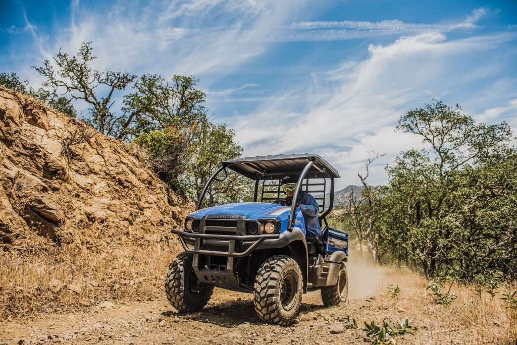Kawasaki's Mule SX isn't built for speed, but it can bring people and supplies to places only UTVs can reach.