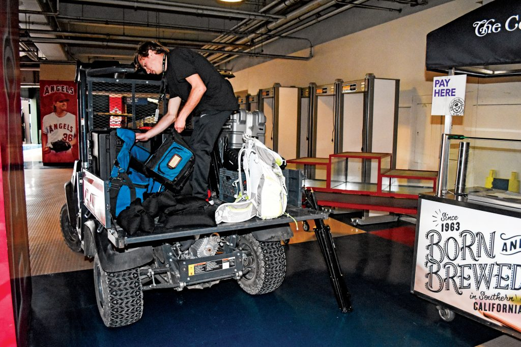 High-def UTVs: At each Supercross round, Fox Sports Network uses UTVs to move all of the audio-video equipment into place around the stick-and-ball stadium or NASCAR track. Each three-hour broadcast takes several days of planning and production.