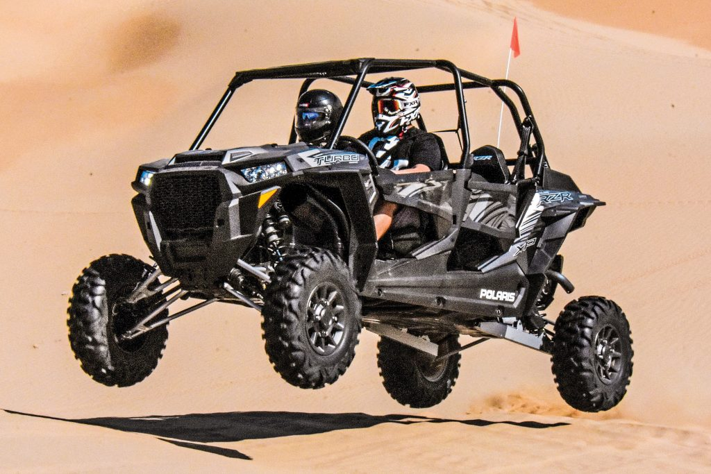 Polaris increased boost to pump the 2017 RZR XP 4 Turbo up to 168 horsepower and upgraded the cooling, drivetrain, transmission, suspension, steering and brakes to deal with the increased power and torque.
