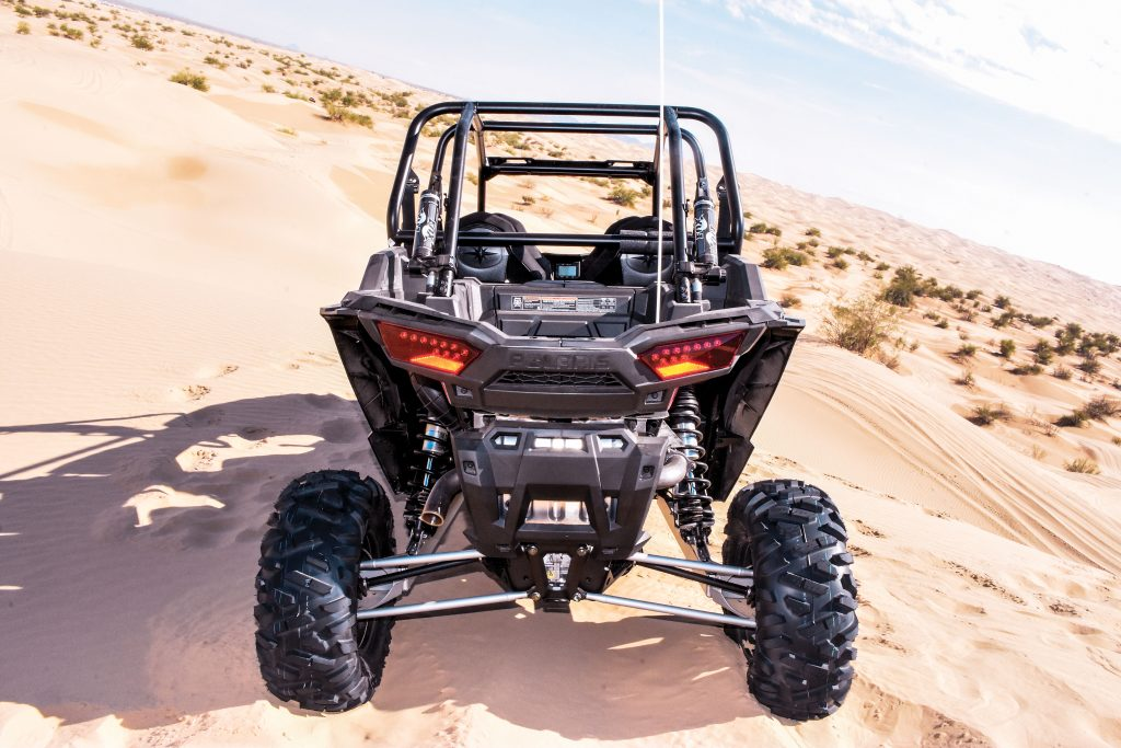 New upper radius rods are larger-diameter tubing instead of solid rods, so they're stronger yet lighter. The rear axle shafts are more durable to withstand the extra forces of the 168-horsepower engine, and rear Bighorn tires measure 29x11-14.