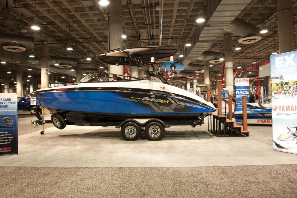 24-foot luxury sport boat.