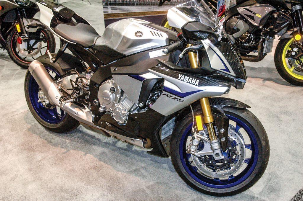 YZF-R1M Moto GP-inspired sport street bike.