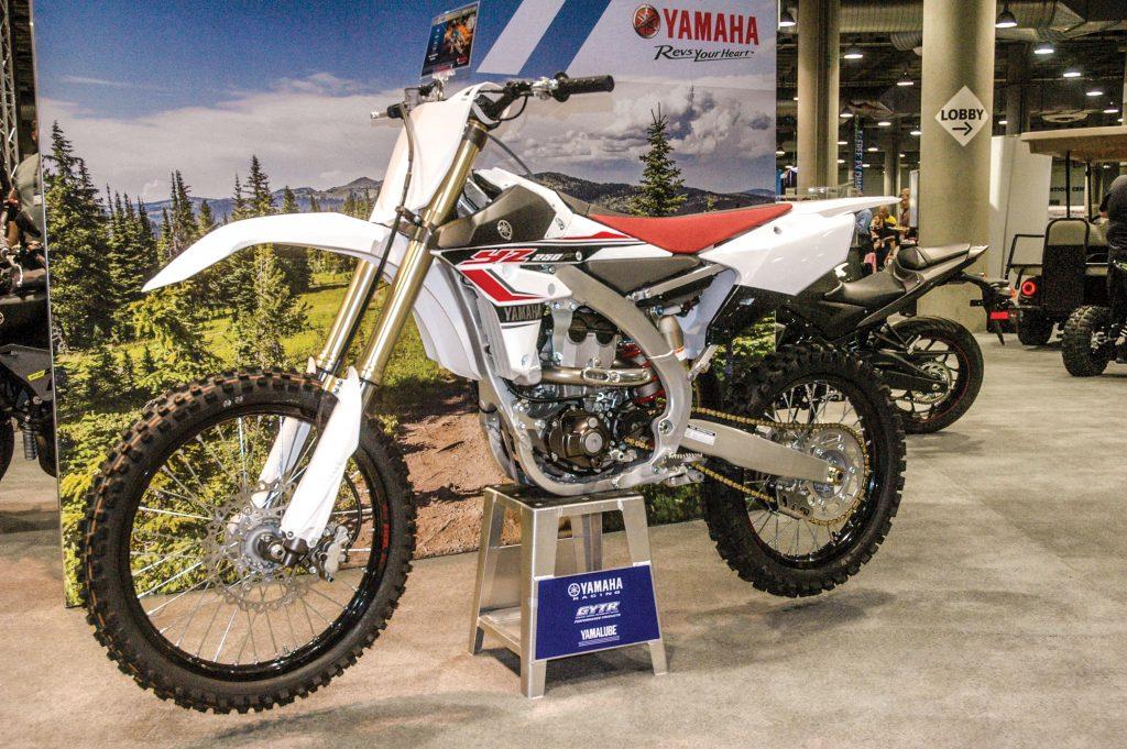 YZ250F motocross bike.