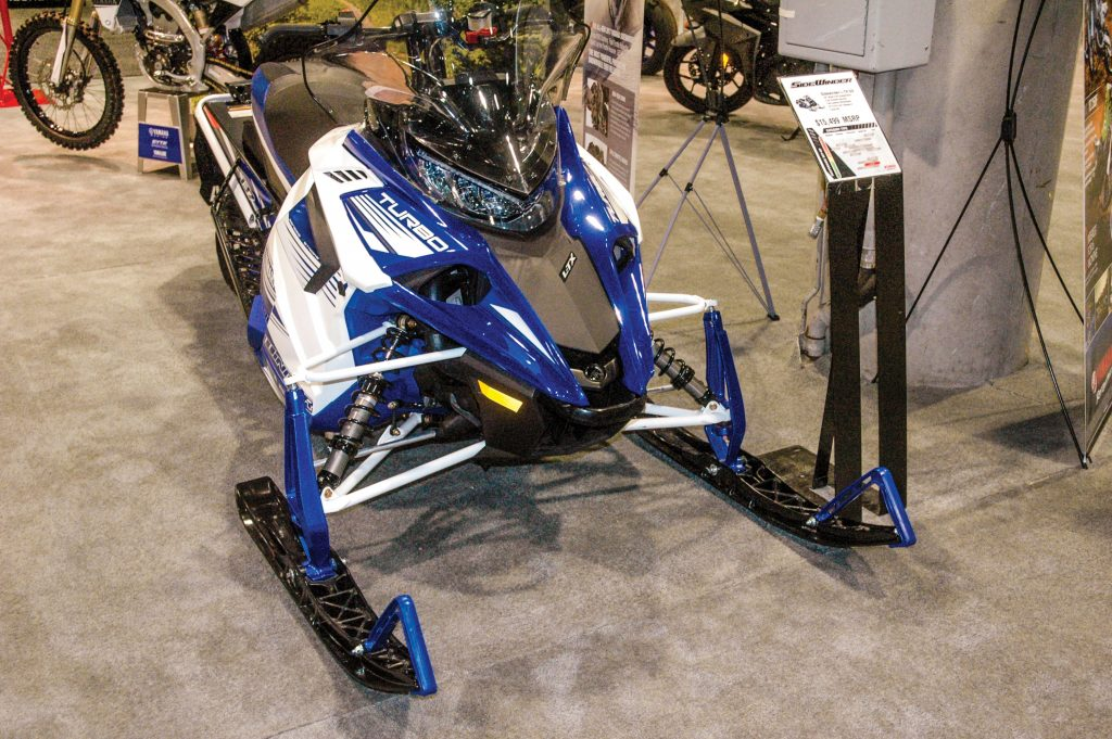 Sidewinder Turbo snowmobile.