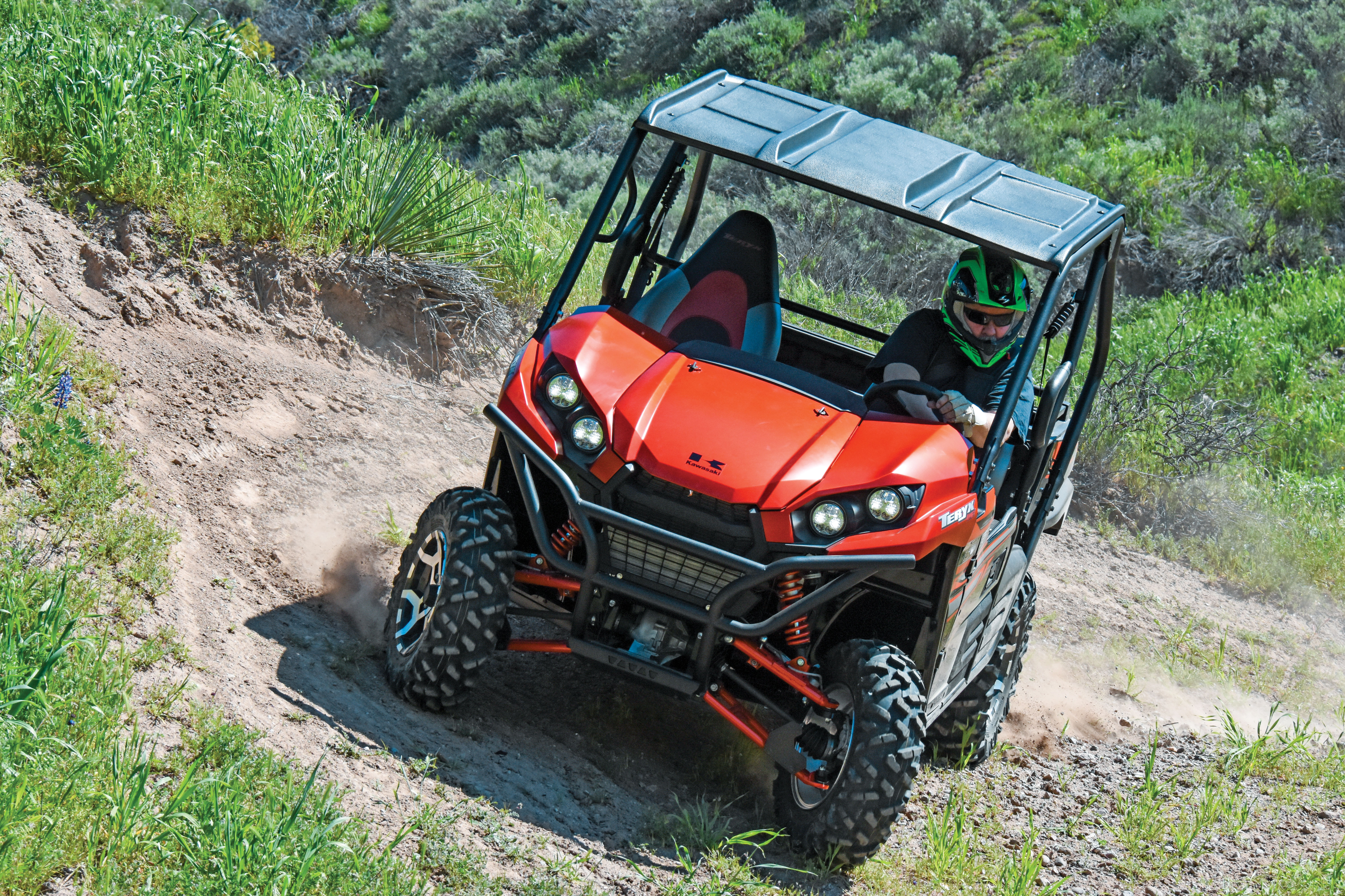 The Teryx corners well with its squatty suspension wide width anti-sway bar and EPS assist and it\u0027s a blast to drift into turns in 2WD. Lined half doors ... & TEST: KAWASAKI TERYX 800 FI LE | UTV Action Magazine