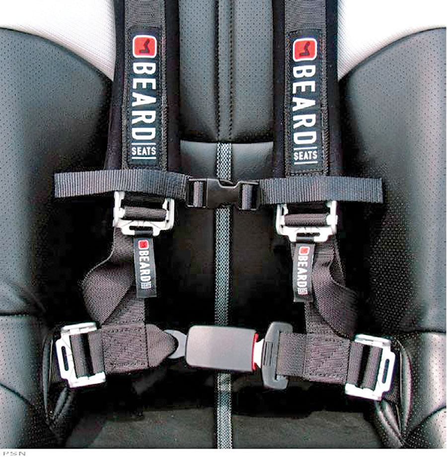 Beard 5-Point Safety Harness with Latch /& Link Buckle Black ARCTIC CAT CAN-AM KAWASAKI POLARIS YAMAHA