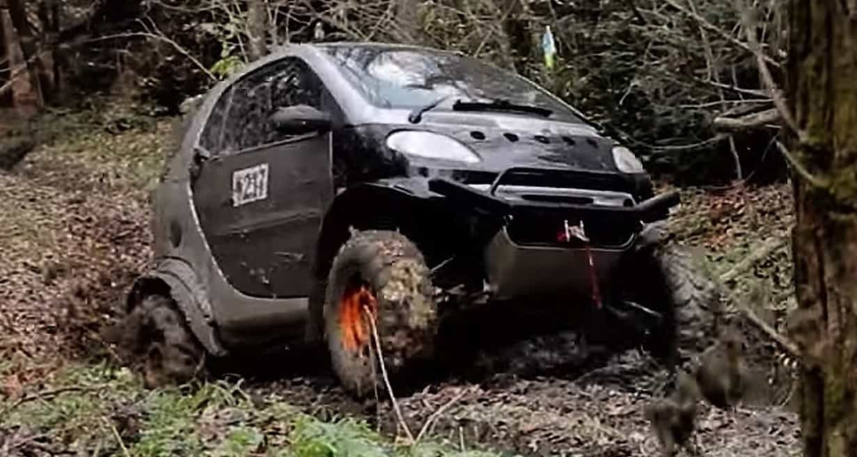 Smart Car Was No Ger Than A Rzr So Why Not Turn It Into Utv Since The Motor Is In Back Already Had Right Weight Placement For An