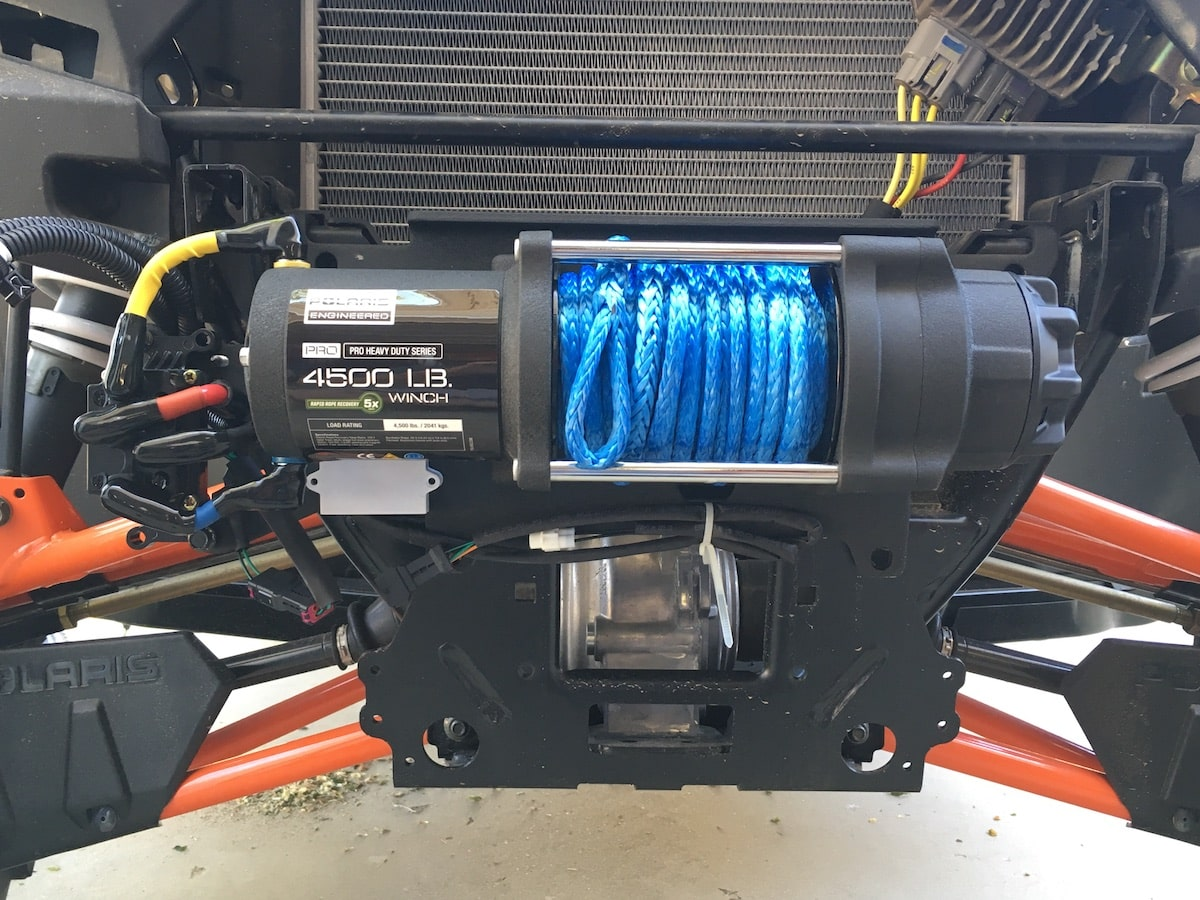 Polaris Pro Hd 4500 Winch Utv Action Magazine Warn Wiring Diagram As Well Also A Heavy Duty 6000 Pound Is Available 3500 For Atvs Performance This Install