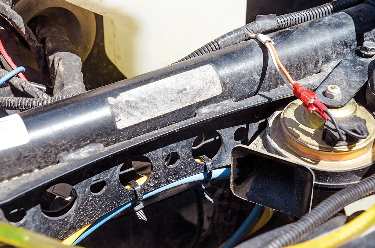 Install A Warn Winch In Rzr Xp 1000 Utv Action Magazine Wiring Diagram 4500 We Also Zip Tied The Power Cables To Shock Tower Gusset For Clean And Less Risk Of Worn Wires Causing Short Go Warncom