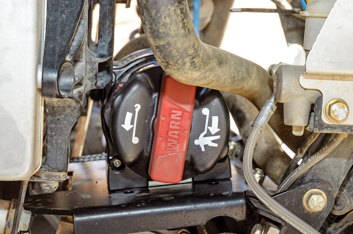Install A Warn Winch In Rzr Xp 1000 Utv Action Magazine Wiring Diagram 4500 Besides The Dash Toggle And Remote Control Ssd Has Cool Ergonomic Clutch Handle For Manually Reeling Out 50 Feet Of Synthetic Rope