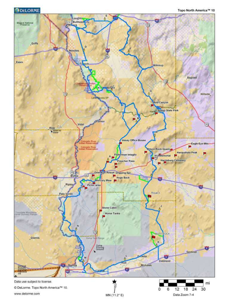 It is a photo of Declarative Printable Arizona Map